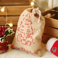 패브릭 산타 선물자루 (소) 트리