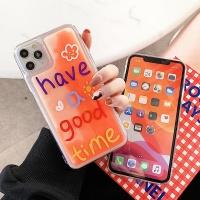 아이폰11 PRO SE2 XR 8 형광 액체 투명 휴대폰 케이스