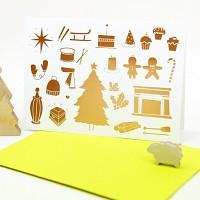 하베스터 크리스마스 카드 - 네온 익사이팅