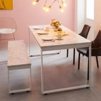 [e스마트] 스틸마블 6인용 식탁테이블 1800x600
