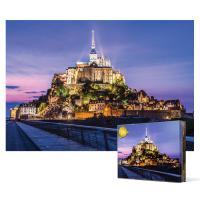 1000피스 직소퍼즐 - 몽생미셸 성의 보랏빛 하늘