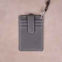 [이니셜무료] 이태리 슈렁큰 목걸이카드지갑 (그레이)