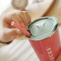 NPE 2019 핑크 개방형 실리콘 빨대 재활용