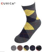 [쿠비카]패션 클래식 아가일 체크 중목 남성양말 CAS-SCS085