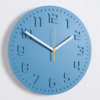 모던 칼라 저소음 벽시계 (블루) 디자인 벽 시계 추카