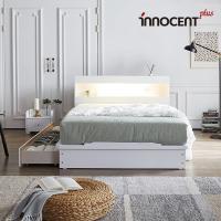 [이노센트] 리브 데이젠 LED 큰서랍 침대 Q/K