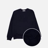 베이직 기모 맨투맨 티셔츠-네이비