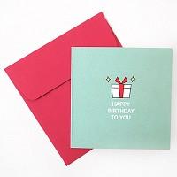 미니축하카드 - 반짝선물