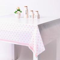 라인도트 비닐 테이블보 - 핑크(1매)