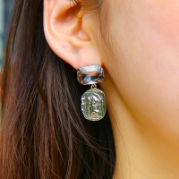 j_e30 - coin big crystal stone earring