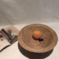 라탄 원형 과일 바스켓 (날개)
