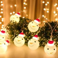 크리스마스 가랜드 눈사람 LED조명