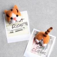 양모 DIY 니들펠트 고양이 마그넷 만들기 코숏 자석
