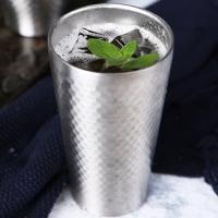 스텐 보온보냉 이중 맥주 물 냉장고 컵 잔 (430ml)