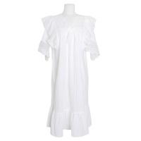 [쿠비카]V넥 레이스 도비면 원피스 여성잠옷 W735