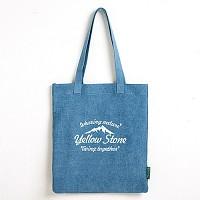 [옐로우스톤] 데님 에코백 denim eco bag - YS2015SB 스카이블루 폰트