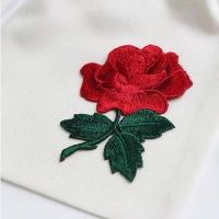 [콩지] 장미 자수 와펜