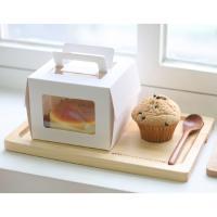 미니창 케익 포장세트 화이트(3set/박스+금박받침)