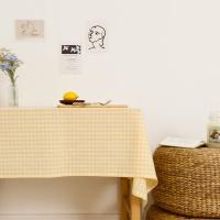 멜란체크 옐로우 면식탁보 테이블보