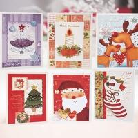 크리스마스카드/성탄절/트리/산타 미니세트 12종 set (FS501)