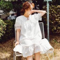 [쿠비카]도비면 반팔 원피스 여성잠옷 W481