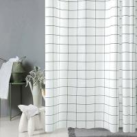 [무료배송]모던 화이트 체크 욕실 샤워커튼 180x180cm