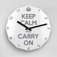 리플렉스 KEEP CALM AND CARRY ON 12각 무소음벽시계 KP12GY