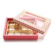 초콜릿박스 12구 핑크 사각창
