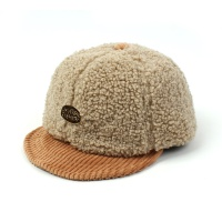 Fleece Beige Bike Cap