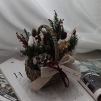 프리저브드 크리스마스 꽃바구니