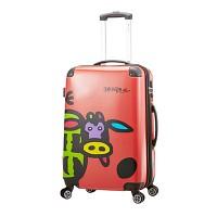 송아지 프린팅 카우(Cow) 24형 레드 수화물용 캐리어 여행가방