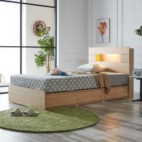 [노하우] 로아 LED 헤드수납 서랍형 침대 SS