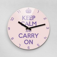 Reflex KEEP CALM AND CARRY ON 무소음벽시계(대) KYE280-FP