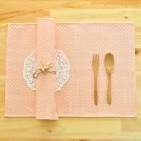 미니도트 방수식탁매트(핑크)