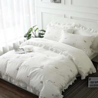 [클라모프] 빈티지 꽃자수 침대커버 세트