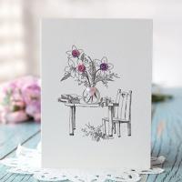 바이올렛 꽃 카드 FT1037-2