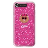 라인프렌즈 iPhone7 CHOCO Hot-Pink LIGHT CASE