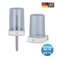 비스카 무선 충전식 양치 컵 UV 칫솔 살균기 VK-H01A