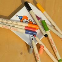 [KOBARU] 붓타입 도자기펜-일본 코바루 세라믹마카 10색세트 HA621