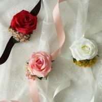 브라이덜샤워꽃팔찌 - 로즈앤스키미아 [3color]