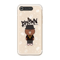 iPhone7 LINE FRIENDS BROWN SWAG Light UP Case