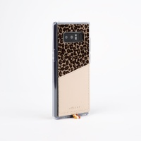 스매스 갤럭시노트8 송치가죽 포켓 바 카드 케이스 레오파드