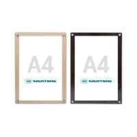 심플 우드 액자 A4용 A3용 부착형 다보게시판 광고판