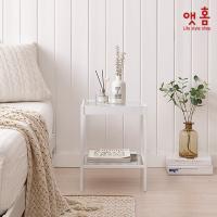 앳홈 강화유리 미니 협탁 1+1