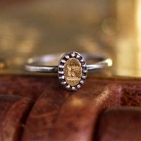 [수크] RS-125 타원 황동이니셜 반지(Brass Initial Ring)