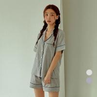 [쿠비카]올록볼록 스트라이프 투피스 여성잠옷 W739