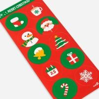 [인디고샵] 크리스마스 심플 아이콘 키트 라벨 (2개)