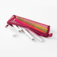 [LIMITED COLOR] Mesh Pen case - Wine Red