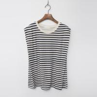 Linen Cotton Stripe Cap Tee - 민소매