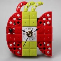 물고기4 블럭시계 (170314) 블럭레고형시계,조립시계